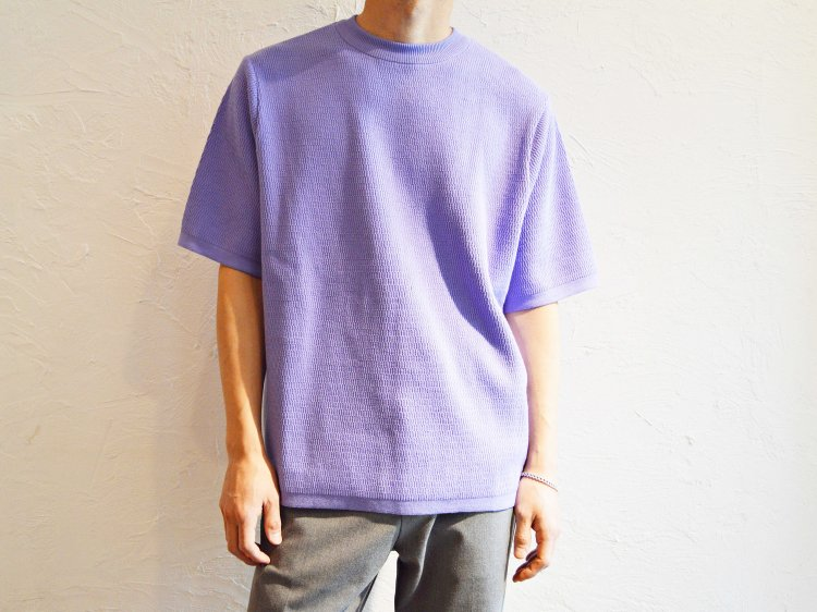 COTTON THERMAL S/S KNIT 【L.PURPLE】 / RoToTo