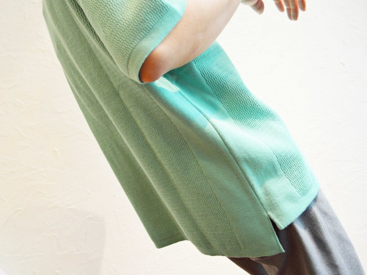 COTTON THERMAL S/S KNIT 【MINT】 / RoToTo