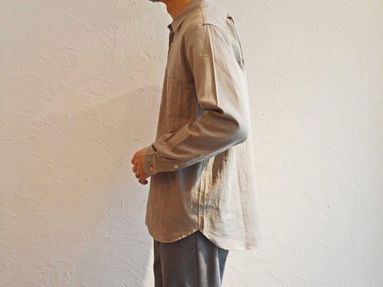 SUPIMA SWISS COTTON RELAX SHIRTS 【GRAY BEIGE】 / LAMOND