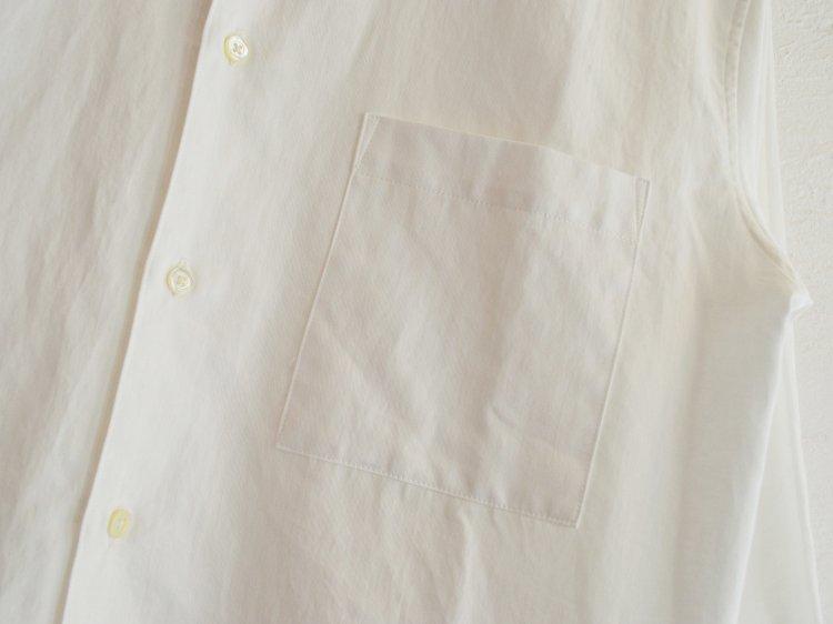 SUPIMA SWISS COTTON RELAX SHIRTS 【WHITE】 / LAMOND