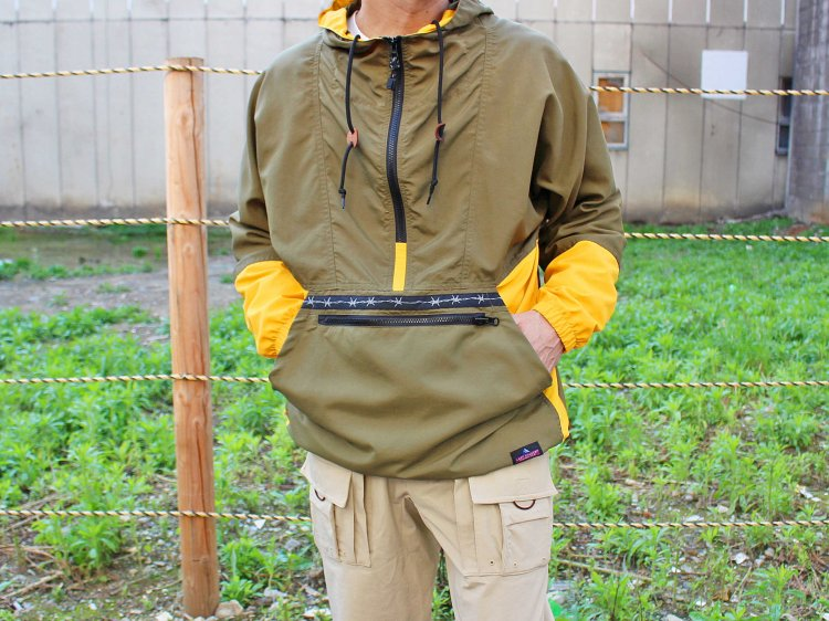 PACKABLE ANORAK PARKER 【Olive/Sunflower】 / LAST CHANCE