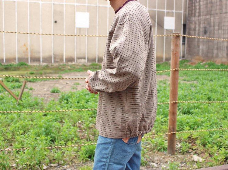 90's BORDER L/S TEE 【BEIGE】 / Nasngwam.