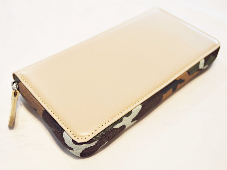 soft glass Long Wallet 【Beige】 / soglia