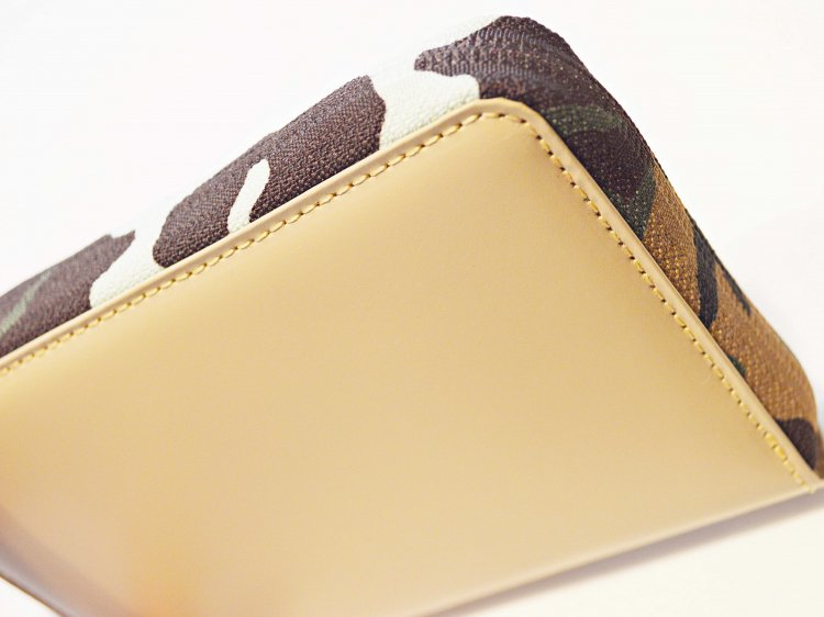 soft glass Round Wallet 【Beige】 / soglia