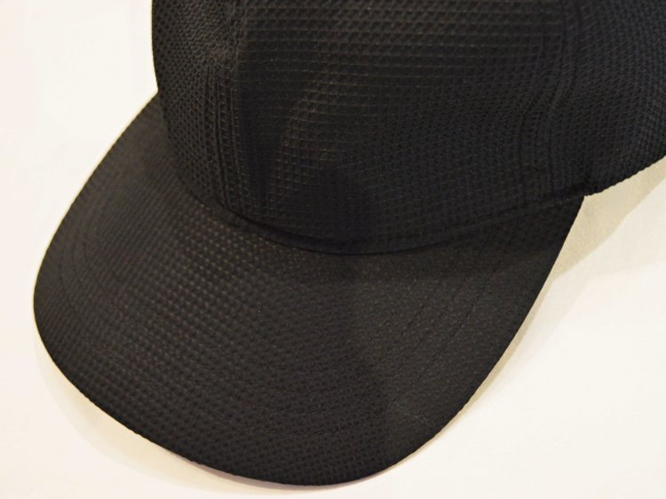 WAFFLE INPORT FABRIC CAP 【BLACK】 / morno<img class='new_mark_img2' src='https://img.shop-pro.jp/img/new/icons1.gif' style='border:none;display:inline;margin:0px;padding:0px;width:auto;' />