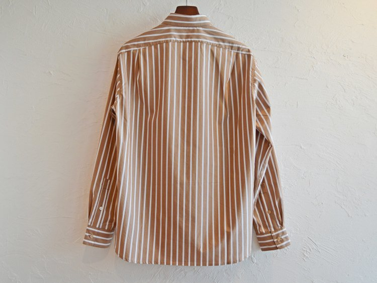 STRIPE SHIRTS 【BEIGE STRIPE】 / LAMOND