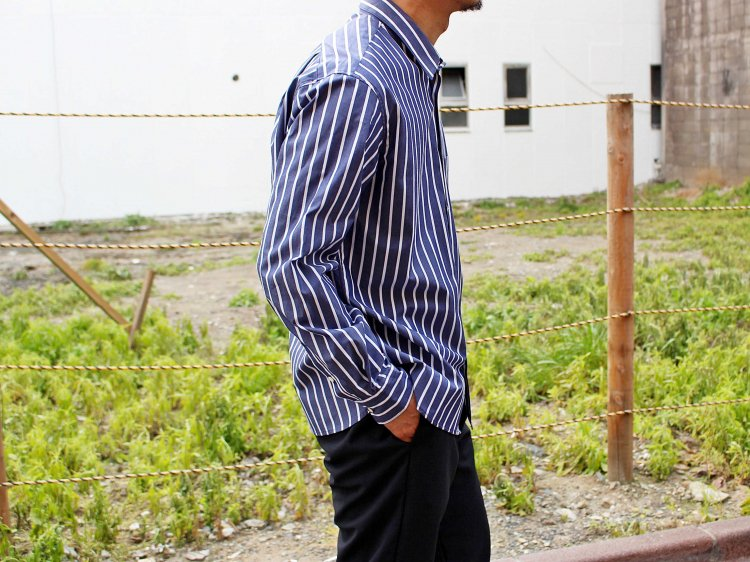 STRIPE SHIRTS 【NAVY STRIPE】 / LAMOND