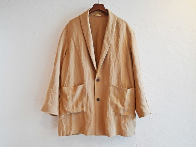 LINEN RAYON WASHABLE COAT 【BEIGE】 / LAMOND