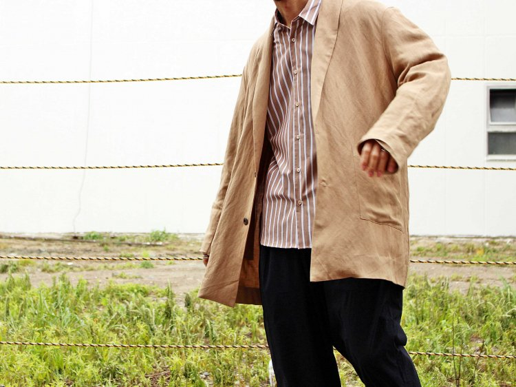 LINEN RAYON WASHABLE COAT 【BEIGE】 / LAMOND<img class='new_mark_img2' src='https://img.shop-pro.jp/img/new/icons1.gif' style='border:none;display:inline;margin:0px;padding:0px;width:auto;' />