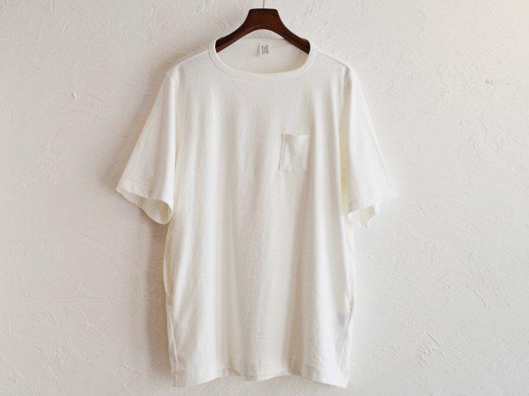 3Pocket T-Shirt Middle length 【WHITE】 / HUE