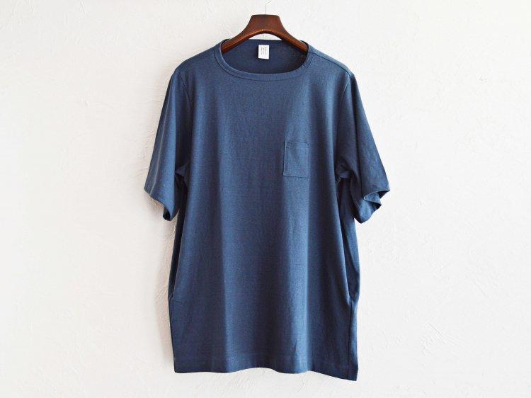 3Pocket T-Shirt Middle length 【BLUE】 / HUE
