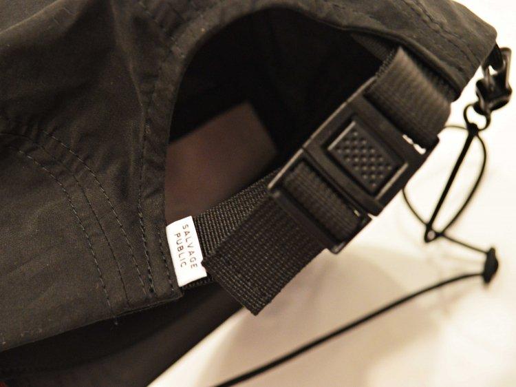 kai 5-Panel Cap 【BLACK】 / SALVAGE PUBLIC