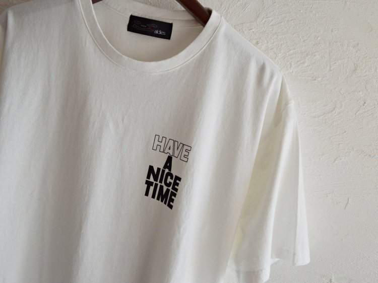 Nice Time Big T 【White】 / ALDIES<img class='new_mark_img2' src='https://img.shop-pro.jp/img/new/icons1.gif' style='border:none;display:inline;margin:0px;padding:0px;width:auto;' />