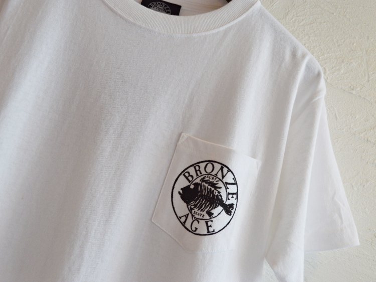 S/S TEE (BANDANA) 【WHITE】 / BRONZE AGE