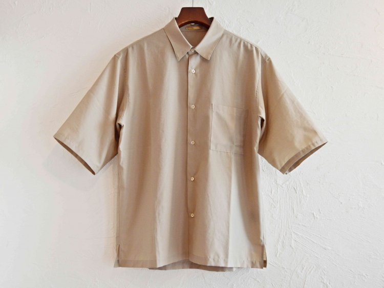 WIDE SHIRTS 【GRAY BEIGE】 / LAMOND
