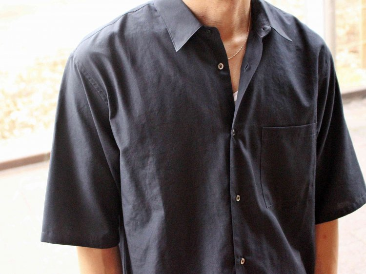 WIDE SHIRTS 【NAVY】 / LAMOND