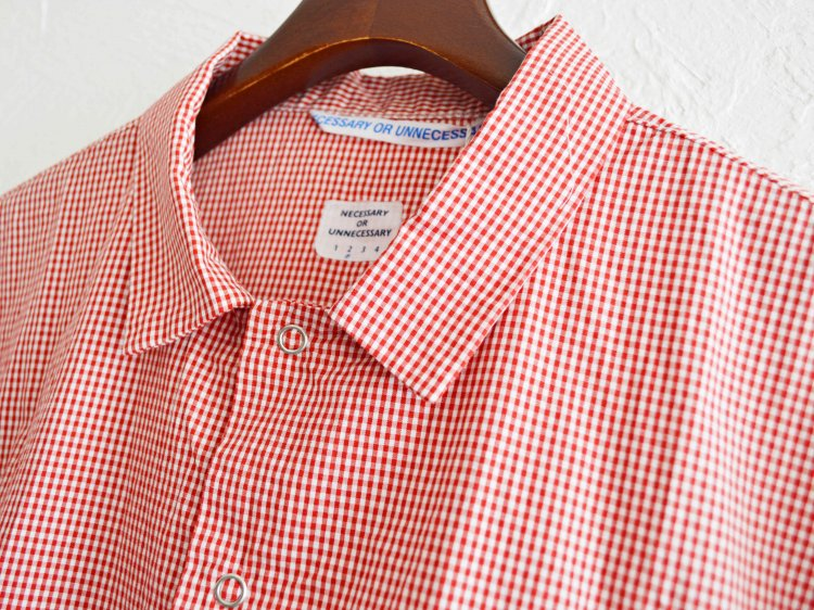 NEW GARAGE GINGHAM  【RED-CHECK】 / necessary or unnecessary