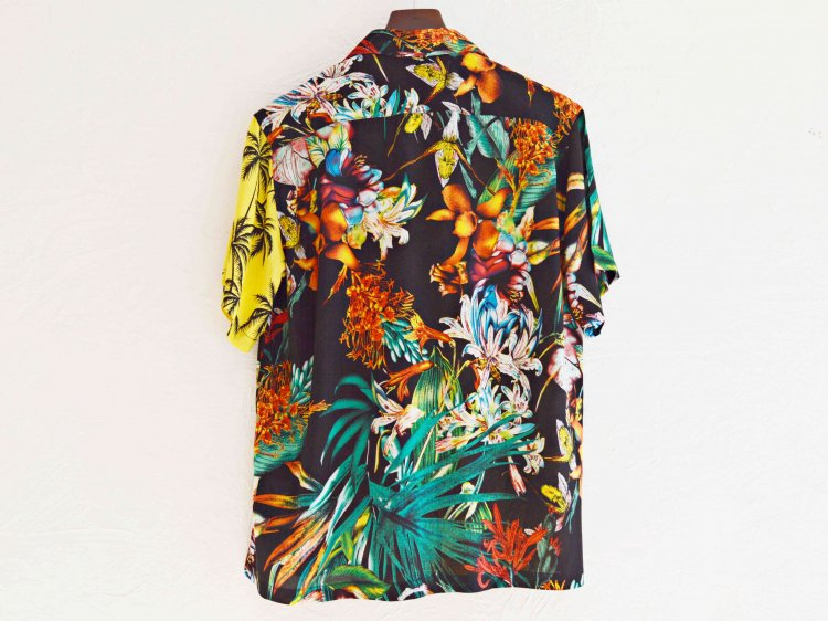 KAILUA S/S SHIRTS 【BLACK×YELLOW】 / Nasngweam.
