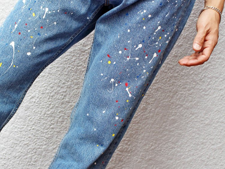 SCATTER PANTS 【BLUE】 / Nasngwam.