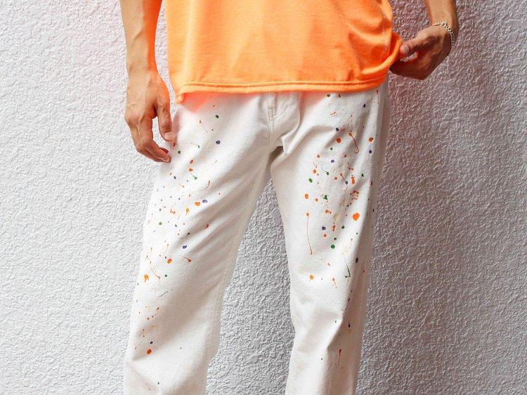SCATTER PANTS 【WHITE】 / Nasngwam.