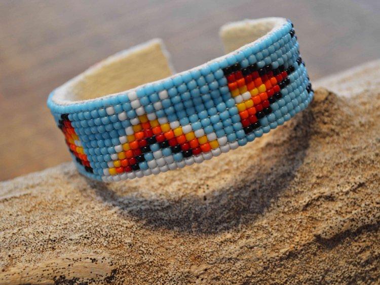 Navajo BEADS BANGLE / indian jewelry