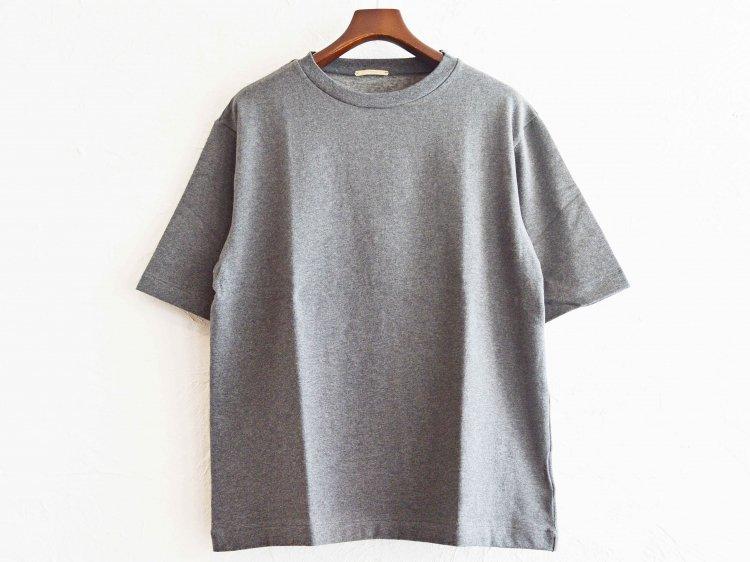 AUTUMN TERRY CLOTH TEE 【CHACOAL】 / LAMOND
