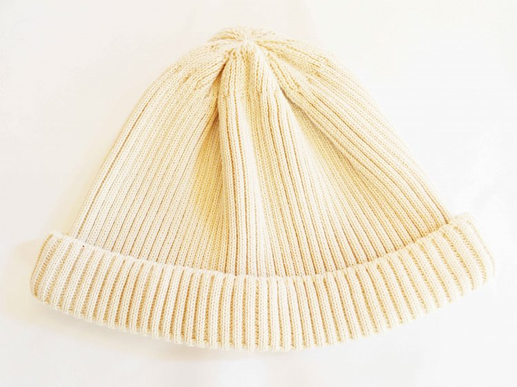 COTTON ROLL UP BEANIE 【IVORY】 / RoToTo