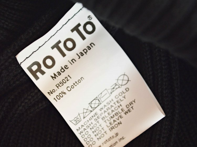 COTTON ROLL UP BEANIE 【BLACK】 / RoToTo