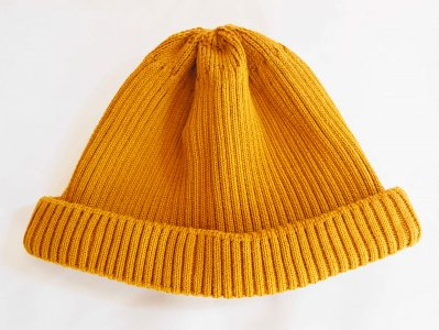 COTTON ROLL UP BEANIE 【YELLOW】 / RoToTo<img class='new_mark_img2' src='https://img.shop-pro.jp/img/new/icons1.gif' style='border:none;display:inline;margin:0px;padding:0px;width:auto;' />
