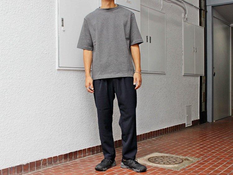 KASHIDOSU WOOL TAPERED PANTS 【DARK NAVY】 / LAMOND