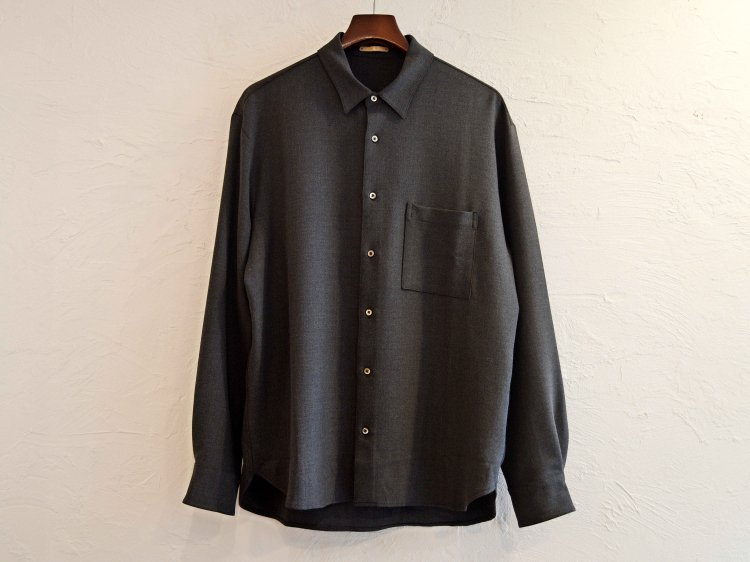 2WAY OX SHIRT 【CHACOAL】 / LAMOND