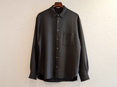 2WAY OX SHIRT 【CHACOAL】 / LAMOND<img class='new_mark_img2' src='https://img.shop-pro.jp/img/new/icons1.gif' style='border:none;display:inline;margin:0px;padding:0px;width:auto;' />