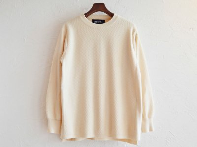 COTTON THERMAL L/S KNIT 【IVORY】 / RoToTo<img class='new_mark_img2' src='https://img.shop-pro.jp/img/new/icons1.gif' style='border:none;display:inline;margin:0px;padding:0px;width:auto;' />
