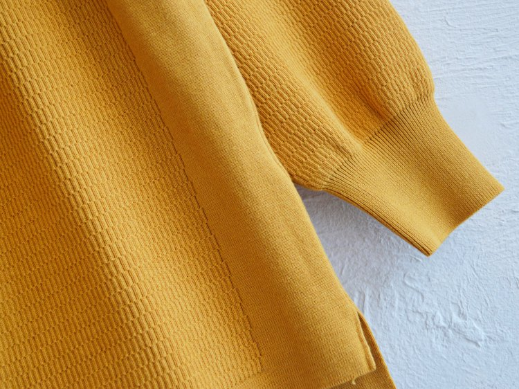 COTTON THERMAL L/S KNIT 【YELLOW】 / RoToTo