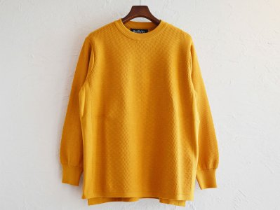 COTTON THERMAL L/S KNIT 【YELLOW】 / RoToTo<img class='new_mark_img2' src='https://img.shop-pro.jp/img/new/icons1.gif' style='border:none;display:inline;margin:0px;padding:0px;width:auto;' />