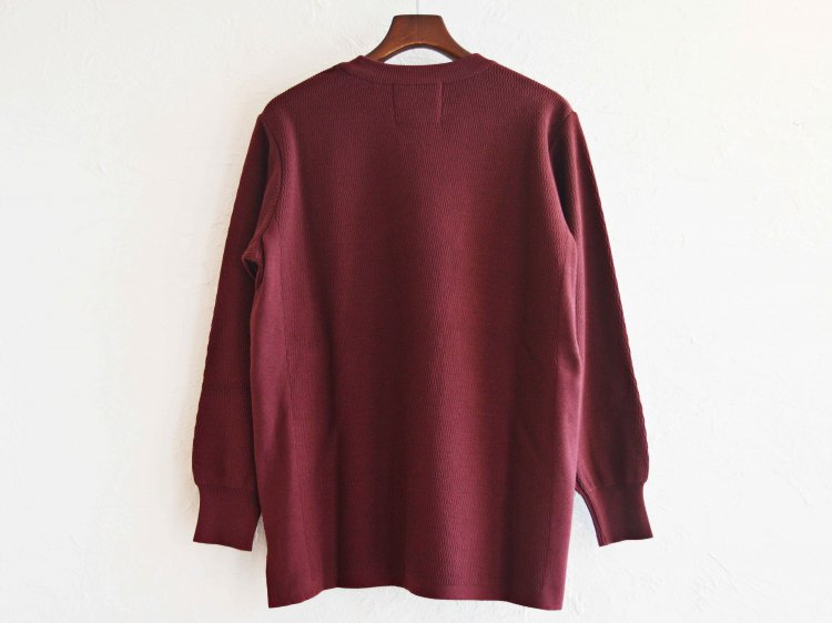 COTTON THERMAL L/S KNIT 【BURGUNDY】 / RoToTo