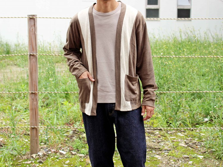 switching cardigan 【olive】 / modemdesign モデムデザイン