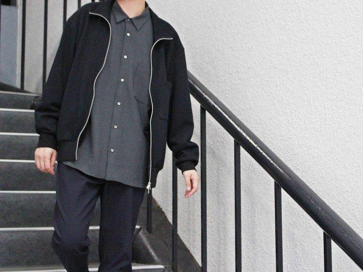 LAMOND ラモンド RIB W/FACE STAND BLOUSON  スタンドブルゾン(DARK NAVY / ダークネイビー)