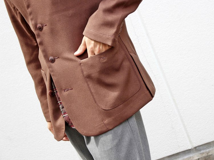 Nasngwam. ナスングワム / JACSON JACKET ジャクソンジャケット (BROWN / ブラウン)