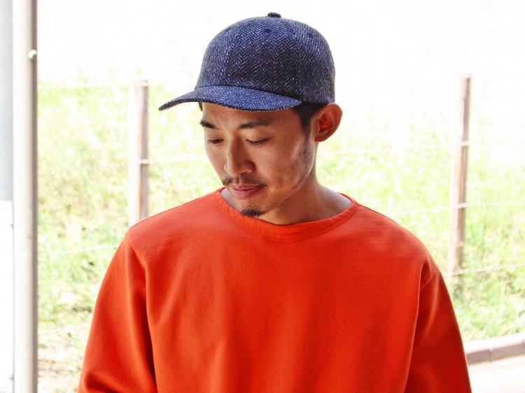 morno モーノ / MOON HERRINGBONE B.B CAP  ベースボールキャップ(チャコール / CHARCOAL)