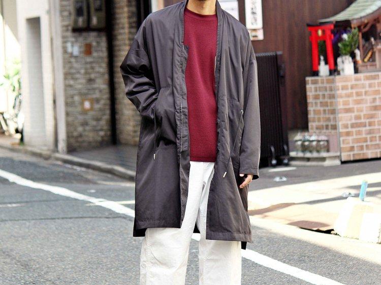 modemdesgin モデムデザイン / PL long coat ロングコート (ブラック / Black)