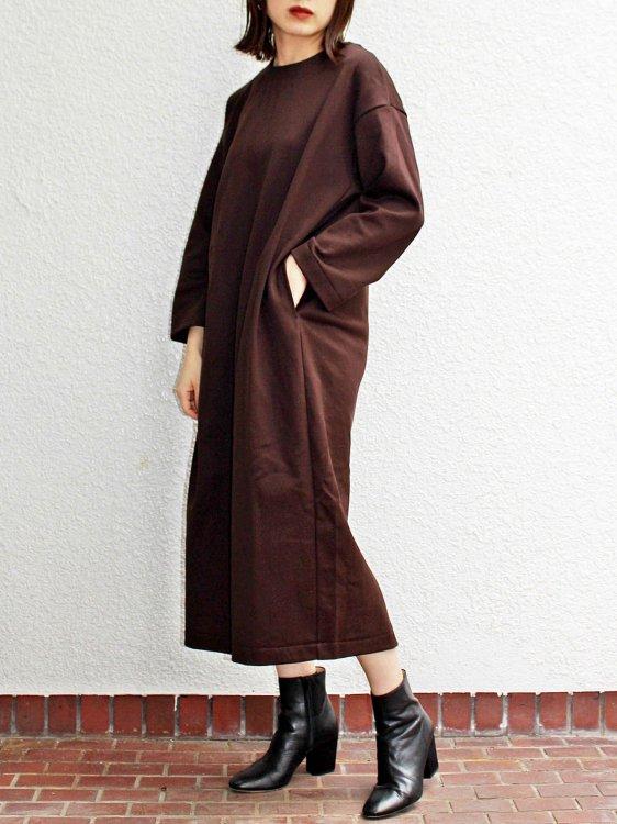 LAMOND ラモンド / RUSSELL COCOON DRESS  コクーンドレス(ブラウン / BROWN) レディース