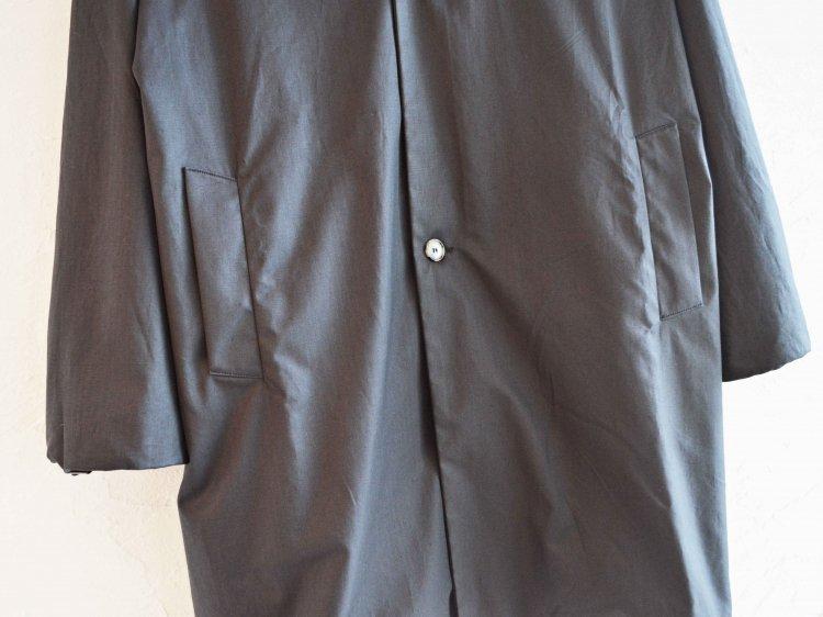 BASISBROEK バーシスブルック / ESPELER ステンカラーコート (BLACK BROWN / ブラックブラウン)