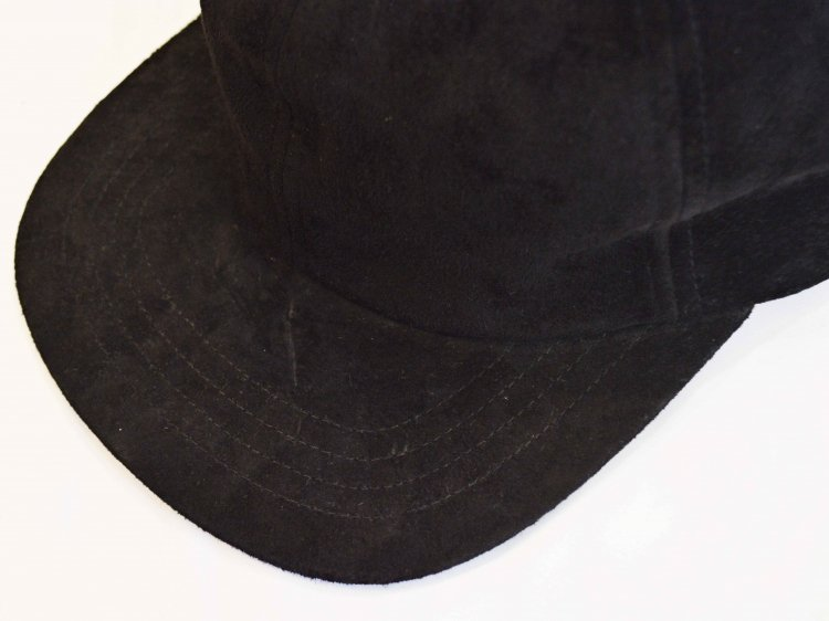 morno モーノ / PIG SUEDE B.B CAP ベースボールキャップ (BLACK / ブラック)<img class='new_mark_img2' src='https://img.shop-pro.jp/img/new/icons1.gif' style='border:none;display:inline;margin:0px;padding:0px;width:auto;' />
