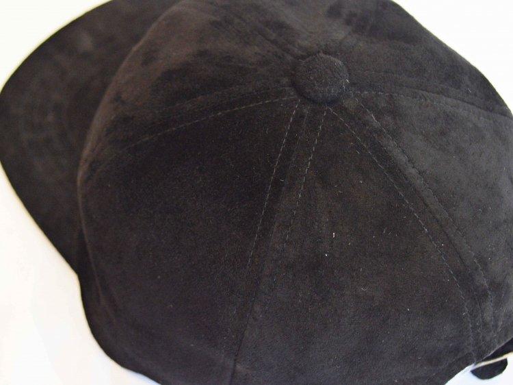 morno モーノ / PIG SUEDE B.B CAP ベースボールキャップ (BLACK / ブラック)