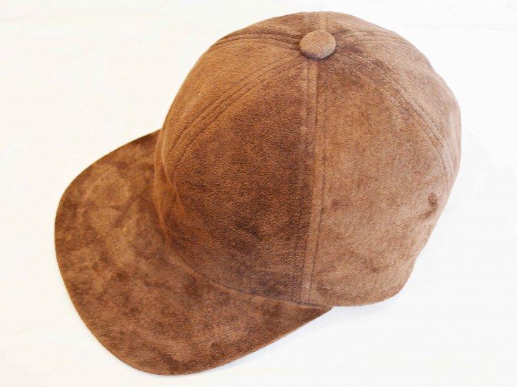 morno モーノ / PIG SUEDE B.B CAP ベースボールキャップ (BROWN / ブラウン)