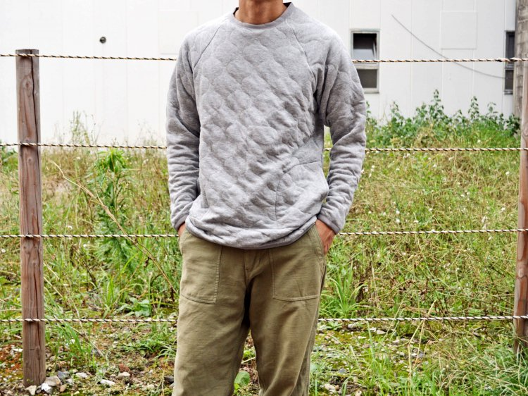 SPINNER BAIT スピナーベイト / MILITARY QUILT CUTSEW ミリタリーキルトカットソー (GRAY / グレー)<img class='new_mark_img2' src='https://img.shop-pro.jp/img/new/icons1.gif' style='border:none;display:inline;margin:0px;padding:0px;width:auto;' />