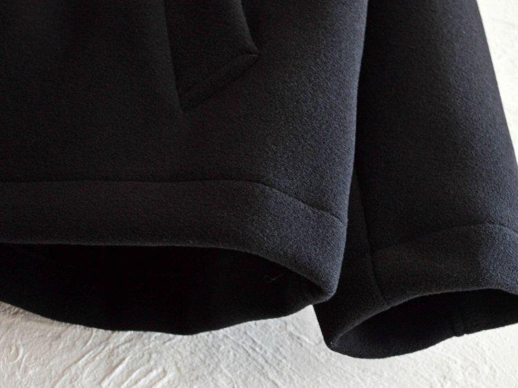 LAMOND ラモンド / GEELONG LAM WOOL WRAP AROUND PARKA ラムウールラッパァラウンドパーカー (BLACK / ブラック)