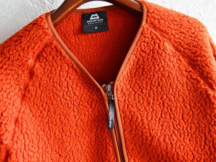 MOUNTAIN EQUIPMENT マウンテンイクイップメント Pile Fleece Cardigan パイルフリースカーディガン (ORANGE / オレンジ)