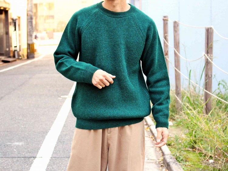 soglia ソリア / LERWICK Sweater ラーウィックセーター (GREEN / グリーン)<img class='new_mark_img2' src='https://img.shop-pro.jp/img/new/icons1.gif' style='border:none;display:inline;margin:0px;padding:0px;width:auto;' />